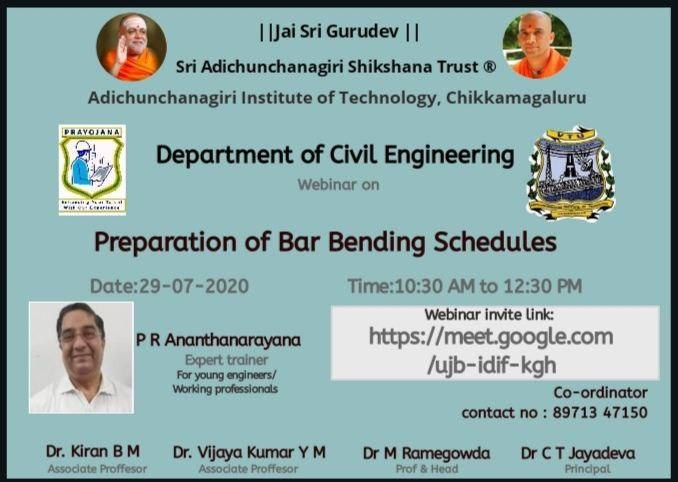 Preparation of Bar Bending Schedules